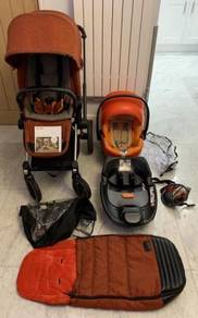 Cybex Priam Lux Seat With Cybex Q Car Sit, Rain Co