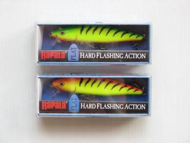 Rapala Flat Rap 8cm Fire Hot Tiger Fishing Lure