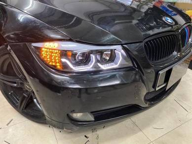 Bmw e90 e 90 3d led projector head lamp light 6