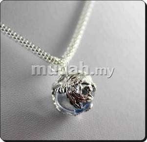 ABPSM-D019 Silver Dragon Blue Crystal Necklace