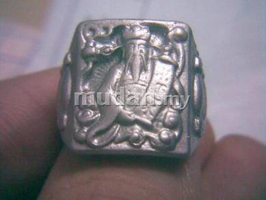 ABRSM-C002 Chai Shen Fortune God Silver Metal Ring