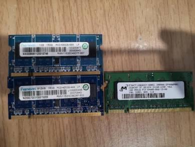 DDR2 laptop 2.5gb