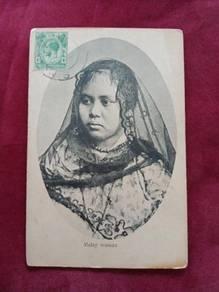 Postcard Malay Woman 1917 B65