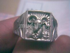 ABRSM-S004 Lucky Sheep Silver Metal Ring Size 10