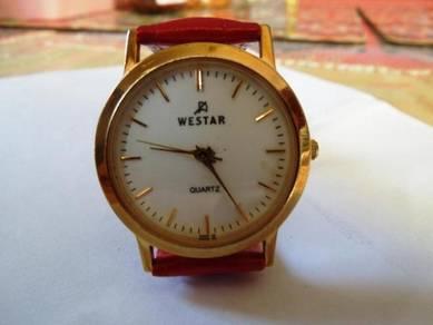 Westar Quartz Round White Dial Watch