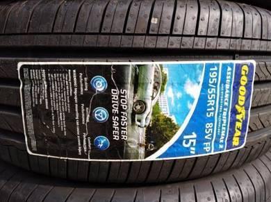 195/55/15 Good Year Triplemax 2 Tyre 2019 Tayar