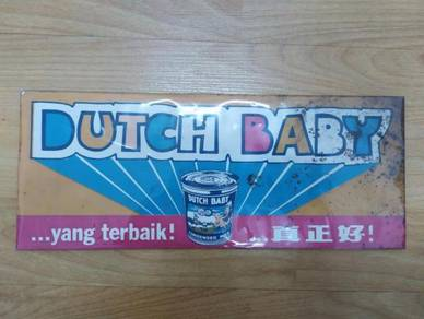 Dutch Baby Tin Sign Vintage