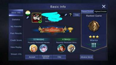 Account MoBa for sale
