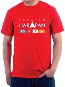 Baju Tshirt Round Neck Cotton Pakatan HARAPAN PHV2