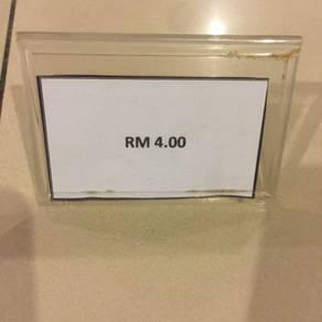 Acrylic price tag display- 18 units