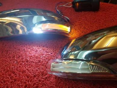 Vios side mirror chrome cover signal welcome light