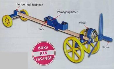 DIY Kereta Lumba Berkipas Kod: KH-0082 - Set of
