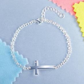 Solid S925 Cross Bracelet & Wedding Gift