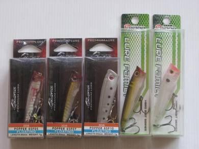 Pancing Branded Popper Fishing Lure Set B
