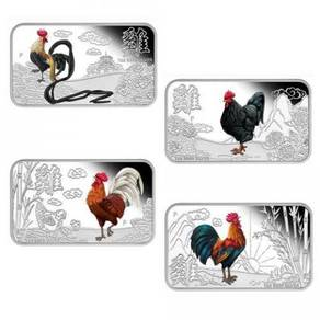 2017 Rooster 1oz Silver Proof Four-Coin Set