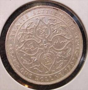 1907 Straits Settlements 1Silver Coin