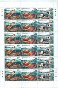 Mint stamp Setenant Ornamental Fishes Msia 2018
