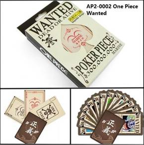 One Piece Anime Poker Card Wanted Luffy Kad Cute 2