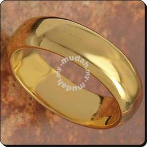 ABRGF-P001 9k Gold Filled Smooth Plain Ring Sz6.75