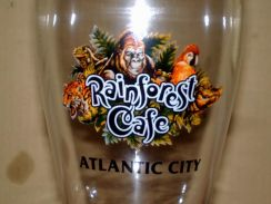 Cawan atlantic city rainforest cafe tall glass cup