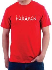Baju Tshirt Round Neck Cotton Pakatan HARAPAN PHV1