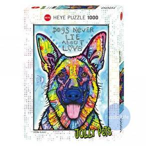 Heye dog never lie about love 1000 puzzle