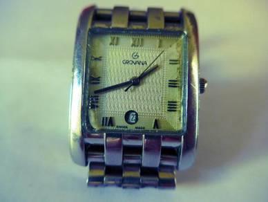 Grovana White Square Dial Watch