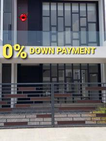 0% down payment.easy access to 2nd link/jb town. pulai jaya. cube 176