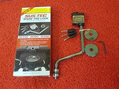 Ford ranger spare tyre tayar tire lock
