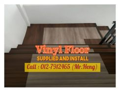 Natural Wood PVC Vinyl Floor - With Install AC95