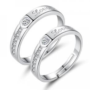 Forever Love Adjustable Couple Ring Set