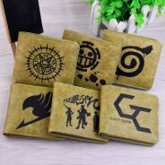 One piece tokyo ghoul etc Anime short wallet