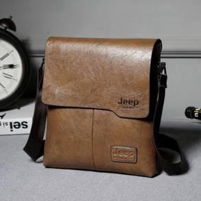 BSJ668 Jeep Popular Business Men Bag (Light Brown)