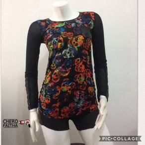 Baju blouse Wanita no brand Skull design shirt