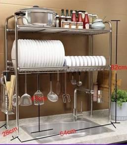 Rak pinggan 2 layer sinki dapur 766