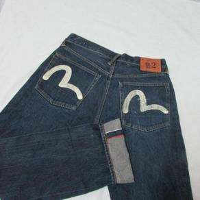 Evisu W31 L33 Gull putih kepala kain jeans
