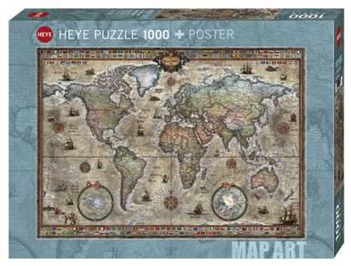 Heye map art puzzle 1000+poster