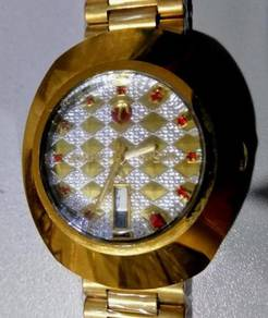 Jam diastar rado gold ceramic watch