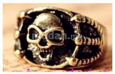 ABRB-S001 Bronze Biker Gothic Claw Skull Ring S7.5