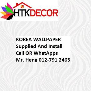 3D Korea Wall Paper with Installation 568EV