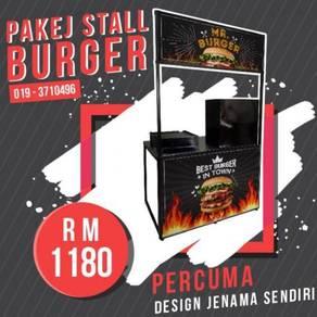 Stall Burger Pakej Lengkap