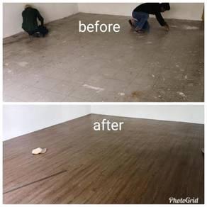 Vinyl Floor Lantai Timber Laminate PVC FloorCE11