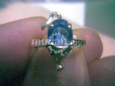 ABRSB-M005 Mouse Silver Blue Bead Ring - Size 4
