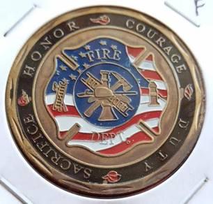 Medallion Saint Florian Fire Dept