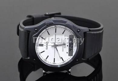 Casio Men Analog Digital Rubber Watch AW-49H-7EVDF