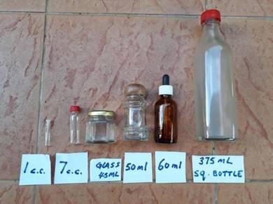 Glass Bottle & Glass Jar