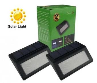 New Solar Power ABS 6 LED Stair Wall Fence Light
