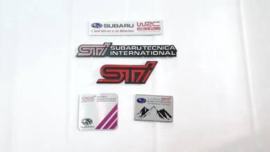 Subaru sti wrc metal side fender gear knob logo