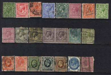 GREAT BRITAIN 1910-1938 KGV old SELECTION BJ377