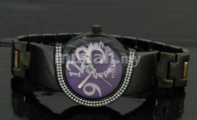 TITAN Ladies ALL BLACK SWAROVSKI Watch 9772NM01